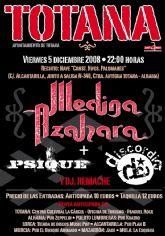 """El programa de conciertos de las fiestas de Santa Eulalia 2008  trae a la localidad mañana a """"Medina Azahara"""", junto a las actuaciones de """"Psique"""" y """"Discordia"""""""