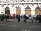 Concentración en el ayuntamiento de La Unión para condenar el atentado de ETA