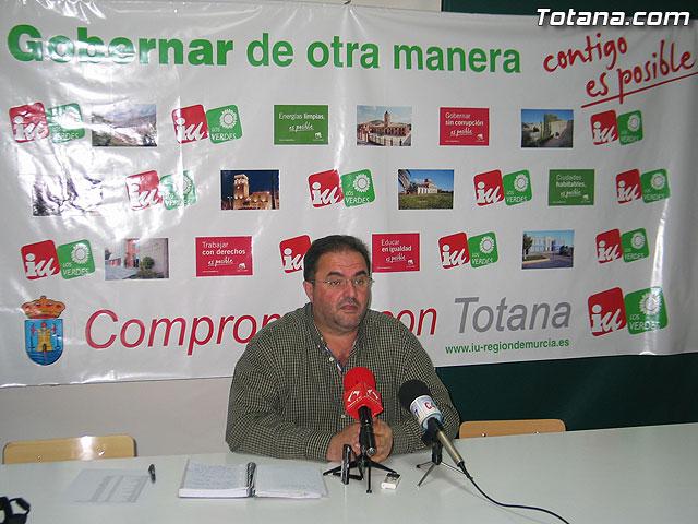 IU insta al PP en Totana a dejar los sables y dar una salida al Gobierno Municipal, Foto 1