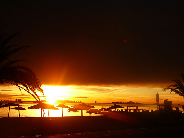 Espectacular amanecer de esta mañana en Santiago de la Ribera - 4, Foto 4