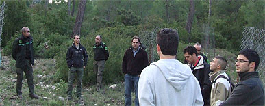 T�cnicos de Arag�n y Cataluña visitan el Parque Regional de Sierra Espuña