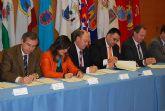 El alcalde del Ayuntamiento de Alhama asiste a la firma del Plan Extraordinario de Infraestructuras B�sicas Municipales