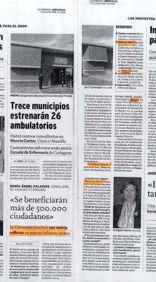 """La concejal de Sanidad pregunta a la edil socialista Lola Cano qu� mentiras va a efectuar ahora sobre la construcci�n del nuevo Centro de Salud """"Totana Sur"""", una vez anunciado por la Comunidad Aut�noma, Foto 1"""