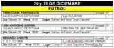 Agenda deportiva fin de semana 20 y 21 de diciembre