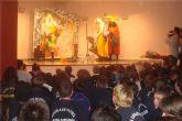El F.C. Cartagena anima los actos navideños de la Escuela de Fútbol Nueva Cartagena