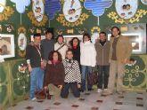 """Los miembros del Servicio de Apoyo Psicosocial visitan la exposición del belén """"El Arte en navidad"""""""