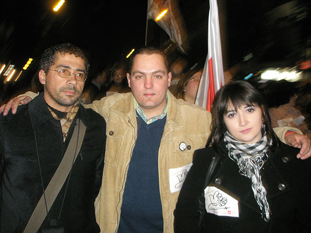 Socialist Youth Totana attended the demonstration in solidarity with the Palestinian people