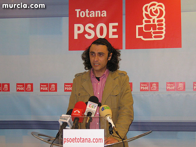 """Martínez Usero """"have already been approved for Totana works worth over three million euros in the Plan Zapatero"""""""