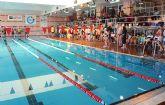 """Los deportistas nadadores del centro ocupacional """"José Moya"""" participan en el Campeonato Regional de Natación, celebrado en Lorca"""