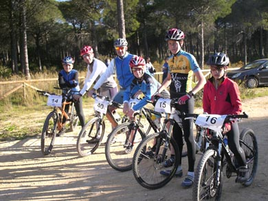 """The Department of Sports and Cycling Club """"Nine"""" organized a day of mountain biking child"""
