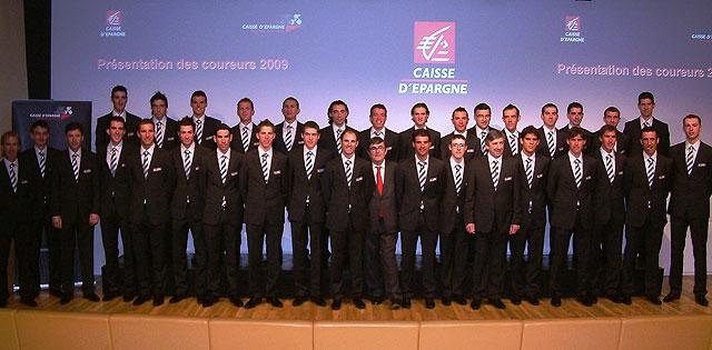 El equipo ciclista Caisse d'Epargne se presentó en París - 2, Foto 2