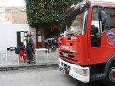 Herido grave por quemaduras en el incendio de un local público en Alcantarilla