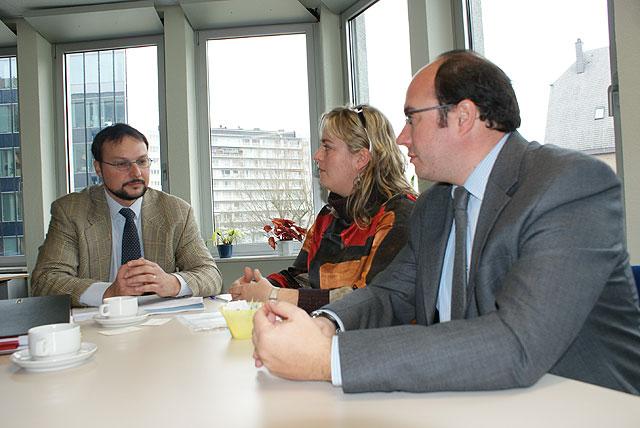 Pedro Antonio Sánchez planifica la aplicación del Proyecto Leonardo en Puerto Lumbreras a través de una reunión con Pavol Krempasky en Bruselas - 1, Foto 1