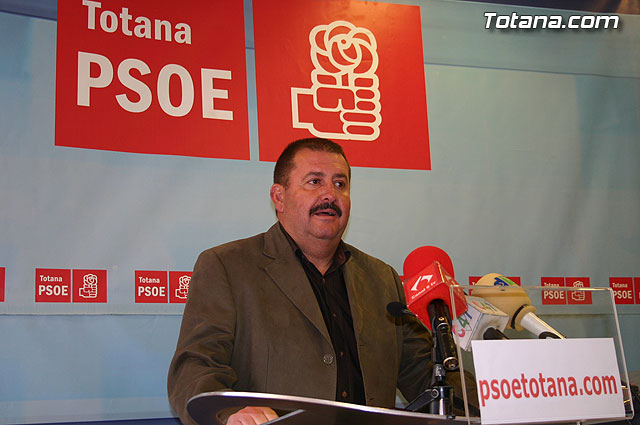 "Andrés García: ""All political groups are forced to defend Totana refilling Tajo"""