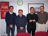 Pedro Saura arropa a la Agrupación socialista de Santomera en la presentación del nuevo diputado regional y portavoz del Grupo Municipal
