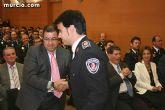 El alcalde asiste a la entrega de diplomas de un sargento y dos cabos de policía local