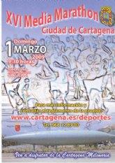 Corte al tráfico con motivo de la XVI Media Marathon Ciudad de Cartagena