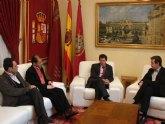 El Alcalde de Lorca recibe a Daniel Bueno y Enrique González, secretarios generales de CCOO en la Región y en Lorca respectivamente