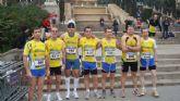 Todos los miembros del Club Atletismo Totana finalizan la maratón de Barcelona por debajo de las 4 horas