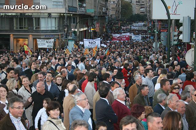 Cientos de miles de personas se manifiestan en Murcia a favor del trasvase - 1, Foto 1