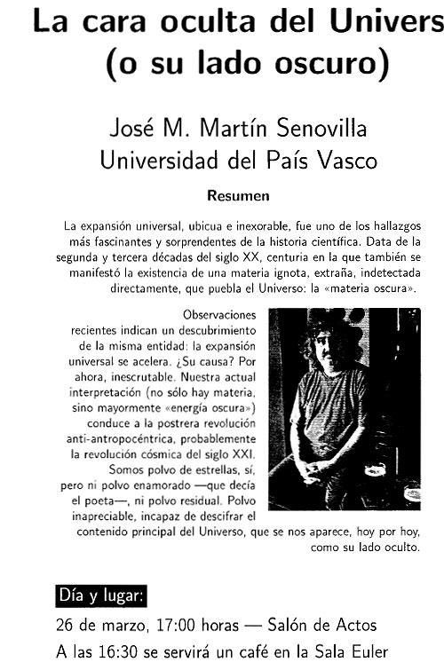 Un profesor de la Universidad del País Vasco hablará en la Universidad de Murcia sobre la cara oculta del Universo - 1, Foto 1