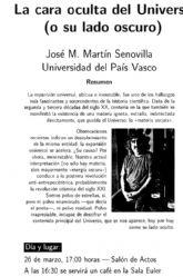 Un profesor de la Universidad del País Vasco hablará en la Universidad de Murcia sobre la cara oculta del Universo