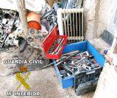 La Guardia Civil recupera gran cantidad de efectos procedentes de numerosos robos en Murcia y Alicante