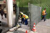 Primeros trabajos de remodelación de las calles Mayor, Comedias y Bodegones