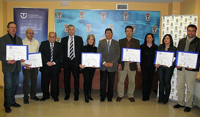 Seis empresas de Águilas obtienen el certificado de Compromiso con la Calidad Turística - 1, Foto 1