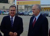 González Tovar y Gómez Gómez visitan las obras del Fondo Estatal de Inversión local en Abarán