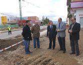 El director general de Carreteras y el alcalde de Puerto Lumbreras inspeccionan las obras de mejora de los accesos a Puerto Lumbreras