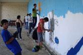 La juventud de Lorquí se acerca el mundo del graffiti