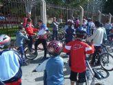 Cerca de 20 jovenes participan en la jornada de marzo de bicicletas de montaña, enmarcada en la Escuela Deportiva Municipal de Ciclismo