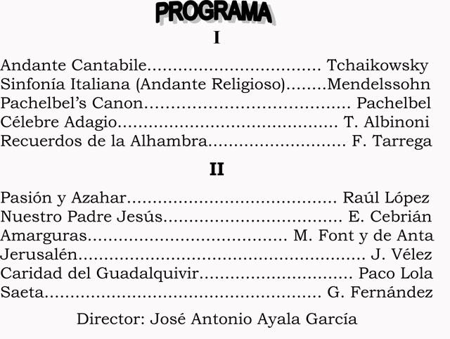 La Agrupación Musical de Alhama de Murcia ofrecerá un concierto de Semana Santa el próximo lunes 6 de abril, Foto 1