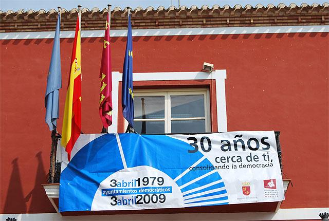 """El Ayuntamiento de Alhama de Murcia se suma a la campaña """"30 años cerca de ti, consolidando la democracia"""", Foto 1"""
