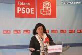 La concejal socialista Lola Cano ofreció una rueda de prensa para valorar la actualidad política municipal