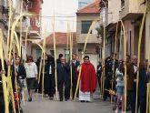 Las palmas de Domingo de Ramos visten las calles de Beniel