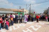El alcalde de Alguazas, José Antonio Fernández Lladó, inauguró la plaza Santo Domingo tras su renovación
