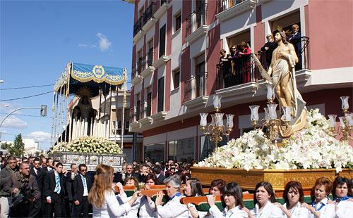 Puerto Lumbreras culmina su Semana Santa 2009 con la procesión del Encuentro - 1, Foto 1