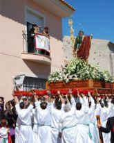 Las Torres de Cotillas despide su Semana Santa con el júbilo del Domingo de Resurrección