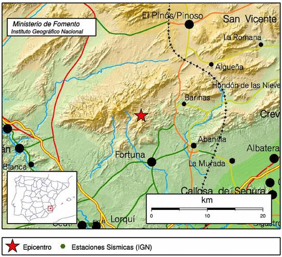Un terremoto de 3,7 grados sacude el noreste de la Región de Murcia - 1, Foto 1