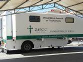 La Unidad Móvil de Mamografía de la Asociación Española Contra el Cáncer estará ubicada en Molina de Segura hasta el día 3 de junio