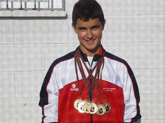 El atleta torreño Sergio Jornet, séxtuple campeón regional infantil, Foto 1
