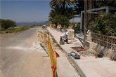 Obras de alumbrado y acerado en la Playa de Los Alemanes