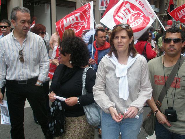 La ejecutiva socialista ha participado, como en años anteriores, en la manifestaci�n del D�a del Trabajador, Foto 1
