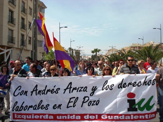 IU en Totana apoya las reivindicaciones de los trabajadores de ElPozo Alimentación, que se encuentran en huelga, Foto 1