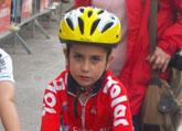 Jose Ángel Camacho, del Club Ciclista Santa Eulalia,  6º en la 2ª prueba de escuelas de ciclismo