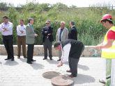 El Alcalde y el consejero Cerdá visitan las obras del colector suroeste y la tubería general de Antonete Gálvez