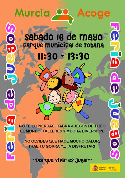 """Murcia Acoge organiza para el próximo sábado 16 de mayo una """"Feria de juegos"""" - 1, Foto 1"""