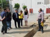 Los concejales de Obras y Educación de  Molina de Segura visitan los colegios Gregorio Miñano y Maestro Francisco Martínez Bernal donde se llevan a cabo obras del Fondo de Inversión Local para el Empleo